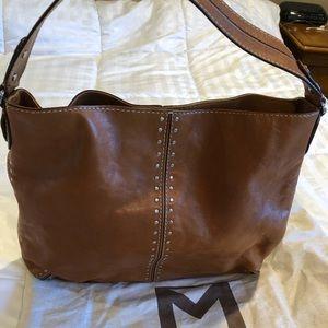 Tan genuine leather Michael Kors pocketbook